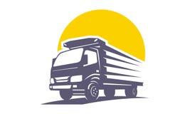 Logotipo del transporte del camión único fotos de archivo libres de regalías
