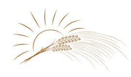 Logotipo del trigo con el sol libre illustration