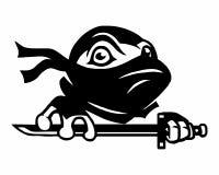 Logotipo del turle de Ninja Foto de archivo libre de regalías