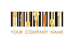 Logotipo del vector de cocinar productos Logotipo del diseño de concepto Utilizado para la cocina, tienda, panadería, colmado Fotografía de archivo libre de regalías