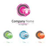Logotipo del vector de la compañía Imagen de archivo libre de regalías