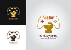 Logotipo del vector de la mano de la palanca de mando ilustración del vector