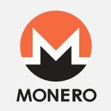 Logotipo del vector de la moneda del cripto de Monero XMR Imagen de archivo