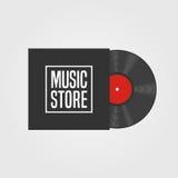 Logotipo del vector de la tienda de la música Imagen de archivo libre de regalías