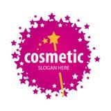 Logotipo del vector de las estrellas para los cosméticos stock de ilustración