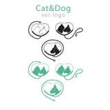 Logotipo del vector de los animales domésticos en seis variaciones Fotos de archivo