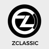 Logotipo del vector de Zclassic ZCL Una privacidad y una transparencia selectiva de las transacciones del dinero y de la moneda c Fotos de archivo libres de regalías