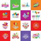 Logotipo del vector del carnaval ilustración del vector