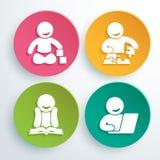 Logotipo del vector del club del desarrollo infantil Imagenes de archivo