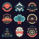 Logotipo del vector del color de la bicicleta y de la bici stock de ilustración