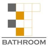 Logotipo del vector del cuarto de baño Fotos de archivo