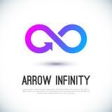 Logotipo del vector del negocio del infinito de la flecha Foto de archivo