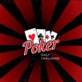Logotipo del vector del póker Fotos de archivo