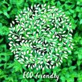 Logotipo del vector ECO Fondo rural borroso Imágenes de archivo libres de regalías