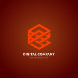 Logotipo del vector o diseño abstracto moderno del elemento Mejor para la identidad y los logotipos Forma simple Fotografía de archivo