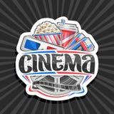 Logotipo del vector para el cine libre illustration