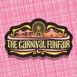 Logotipo del vector para el Funfair del carnaval stock de ilustración