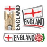 Logotipo del vector para Inglaterra Foto de archivo libre de regalías