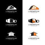Logotipo del vector para la compañía constructiva Imagen de archivo