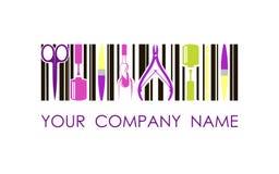 Logotipo del vector para la compañía del diseño del clavo Logotipo del diseño de concepto Imagenes de archivo