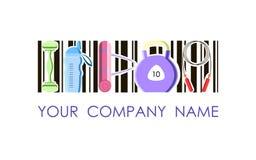 Logotipo del vector para la compañía y el club de fitness del deporte Imágenes de archivo libres de regalías