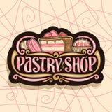 Logotipo del vector para la tienda de pasteles libre illustration