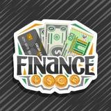Logotipo del vector para las finanzas stock de ilustración