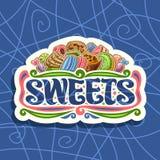 Logotipo del vector para los dulces stock de ilustración