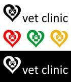 Logotipo del veterinario Fotografía de archivo libre de regalías
