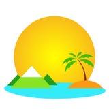 Logotipo del viaje Imágenes de archivo libres de regalías