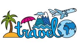 Logotipo del viaje y del centro turístico Fotografía de archivo