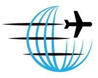 Logotipo del viaje y de la entrega stock de ilustración