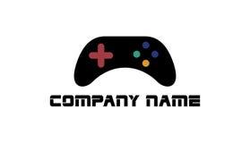 Logotipo del videojugador de la palanca de mando Imagen de archivo