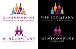 Logotipo del vino Imagen de archivo libre de regalías