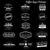 Logotipo del vintage del café nuevo ilustración del vector