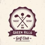 Logotipo del vintage del club de golf, emblema, insignia Fotos de archivo libres de regalías