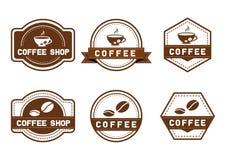 Logotipo del vintage del café del vector foto de archivo libre de regalías