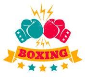 Logotipo del vintage para un boxeo Imágenes de archivo libres de regalías