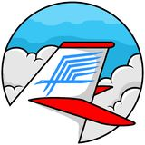 Logotipo del vuelo ilustración del vector