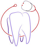 Logotipo dental de la clínica Foto de archivo libre de regalías