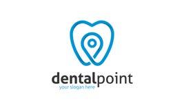 Logotipo dental del punto libre illustration