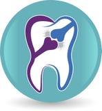 Logotipo dental do osso ilustração do vetor