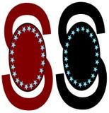 logotipo dentro com fundo Fotografia de Stock Royalty Free