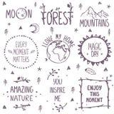 Logotipo determinado de la naturaleza libre illustration
