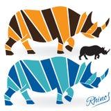 Logotipo determinado del rinoceronte ilustración del vector