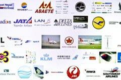 Logotipo diferente das linhas aéreas Fotos de Stock