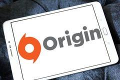 Logotipo digital do software da distribuição da origem Foto de Stock