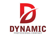Logotipo dinâmico Fotografia de Stock Royalty Free