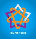 Logotipo do ícone da estrela Ilustração do vetor Imagem de Stock Royalty Free