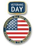 Logotipo do ícone da medalha do dia de veteranos, estilo realístico ilustração do vetor